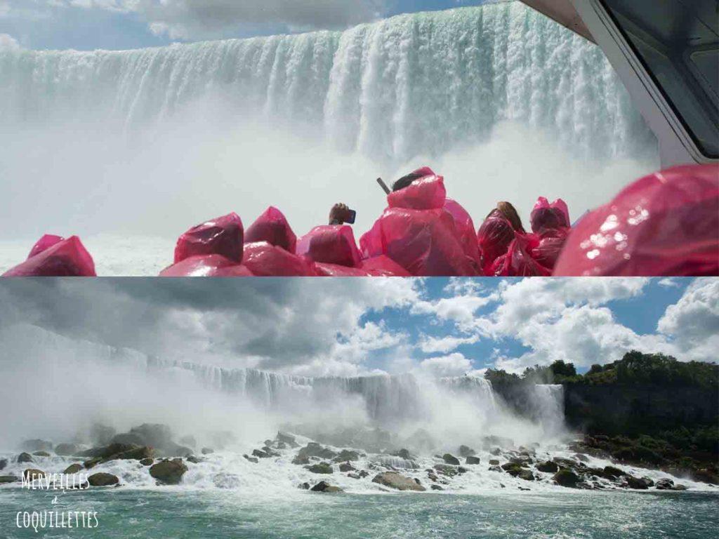 Les chûtes du Niagara -source : Merveilles et coquillettes