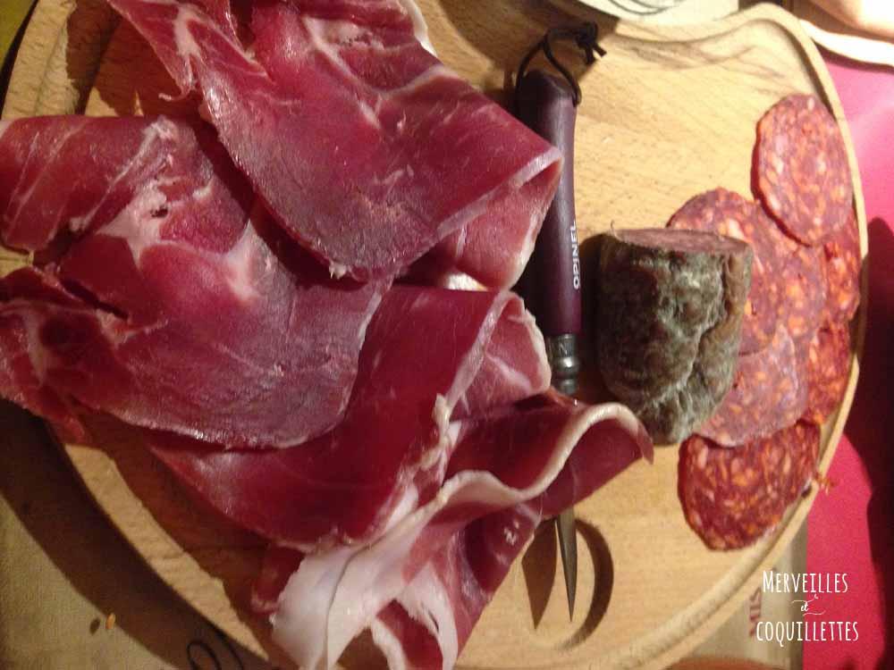 Assiette de charcuterie Chez Baud et Millet - Merveilles et coquillettes