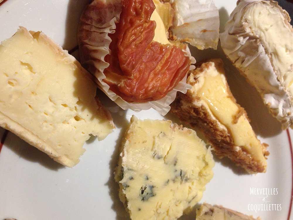 Assiette de fromage de la caverne de Chez Baud et Millet - Merveilles et coquillettes