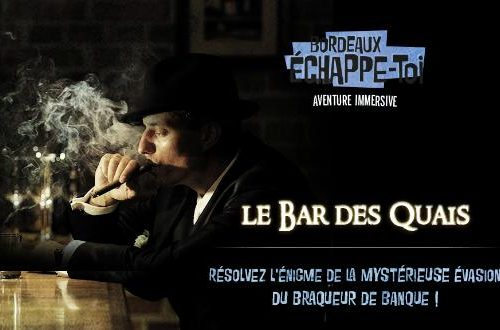 "Le bar des Quais - salle de l'escape game bordelais ""Echappe toi bordeaux"""