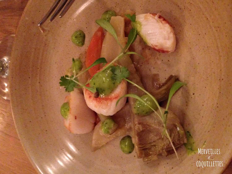 st jacques barigoulde artichaud_restaurant du ha_merveilles et coquillettes