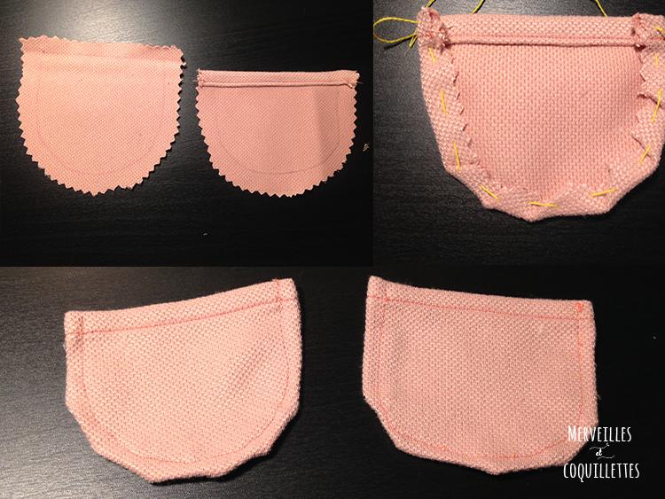 Etapes de la coutures des poches