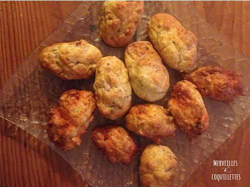 madeleines salées lardons et tomates séchées de Merveilles et Coquillettes